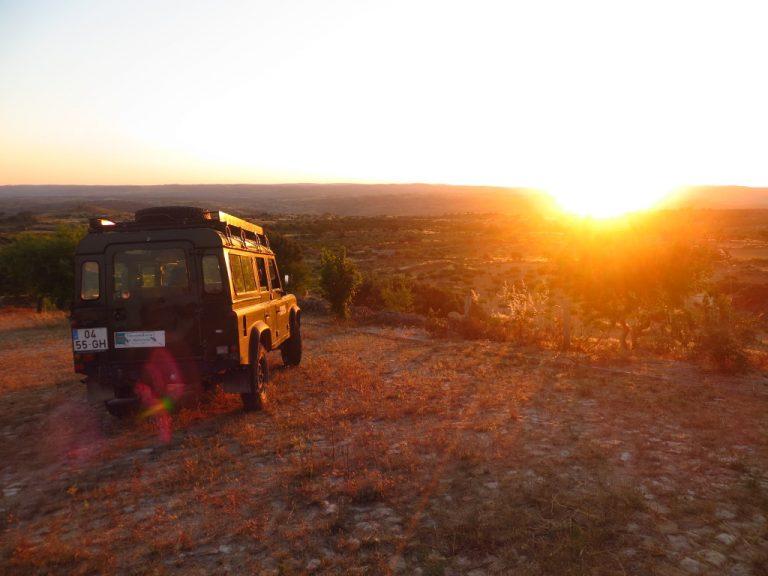 Met een jeep op safari in Faia Brava